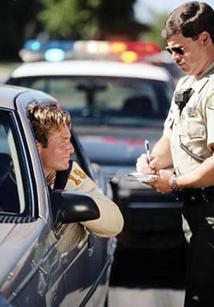 cop giving ticket
